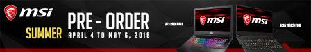 MSI SUMMER PRE-ORDER PROMO