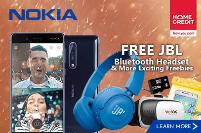 Nokia 8 with FREE JBL Bluetooth Headset