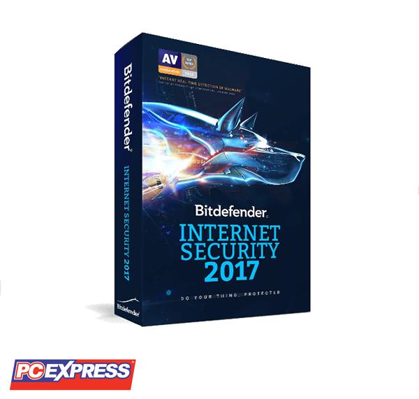 Bitdefender Internet Security 2017 3PCs (2 Licenses)