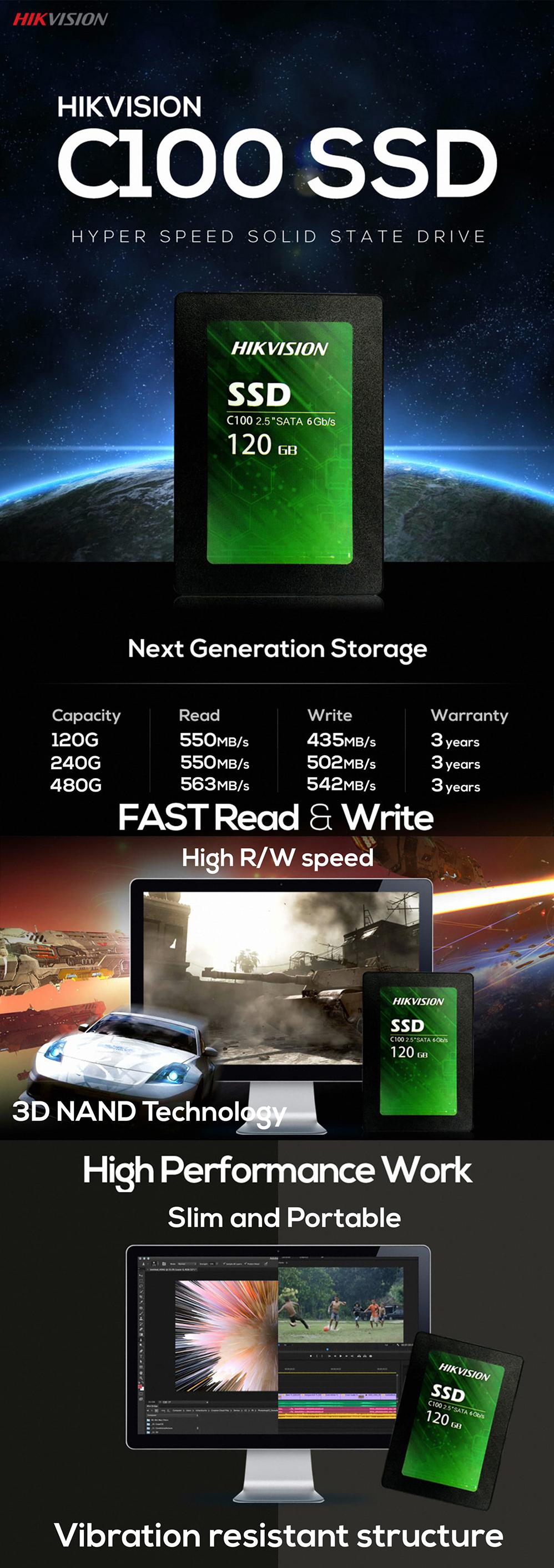 HIKVISION 120GB C100 SSD