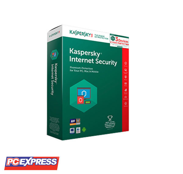 Kaspersky Internet Security 2018 3 Devices (2 Years Protection)