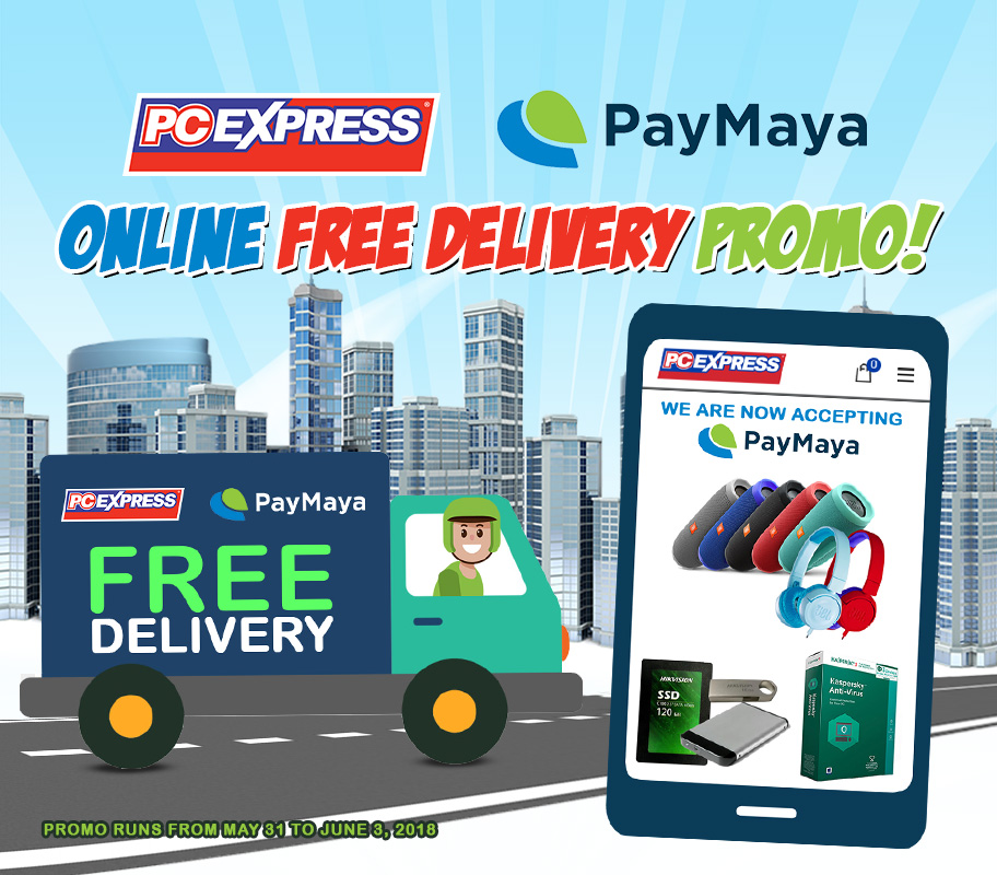 PCX ONLINE PAYMAYA WITH FREE DELIVERY PROMO