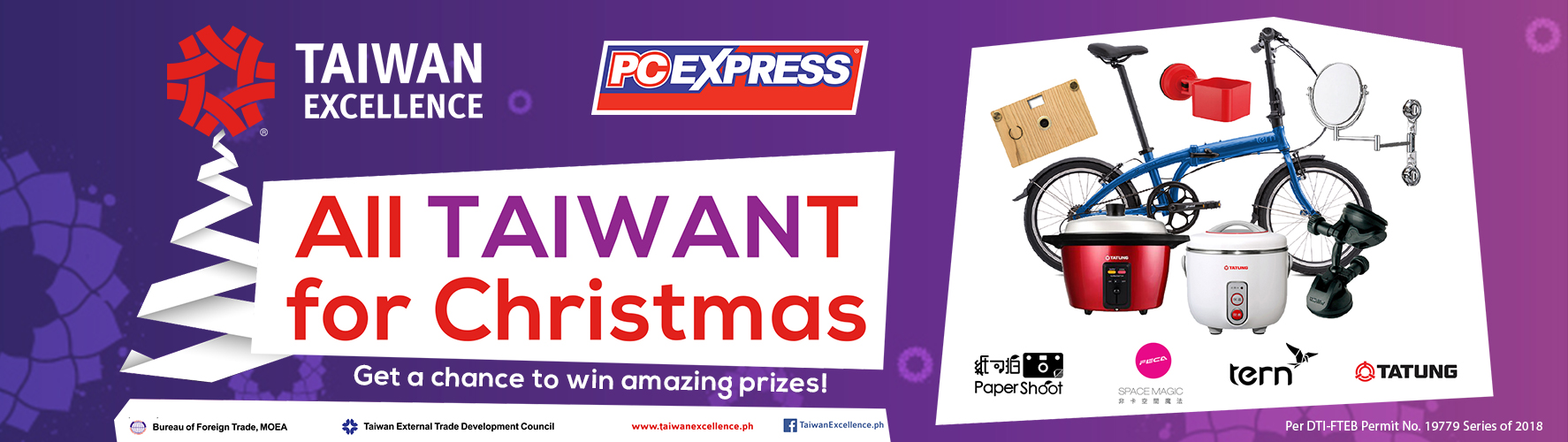 ALL TAIWANt FOR CHRISTMAS RAFFLE PROMO!
