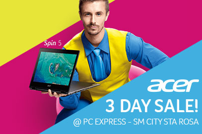 Acer 3 Day Sale @ SM City Santa Rosa
