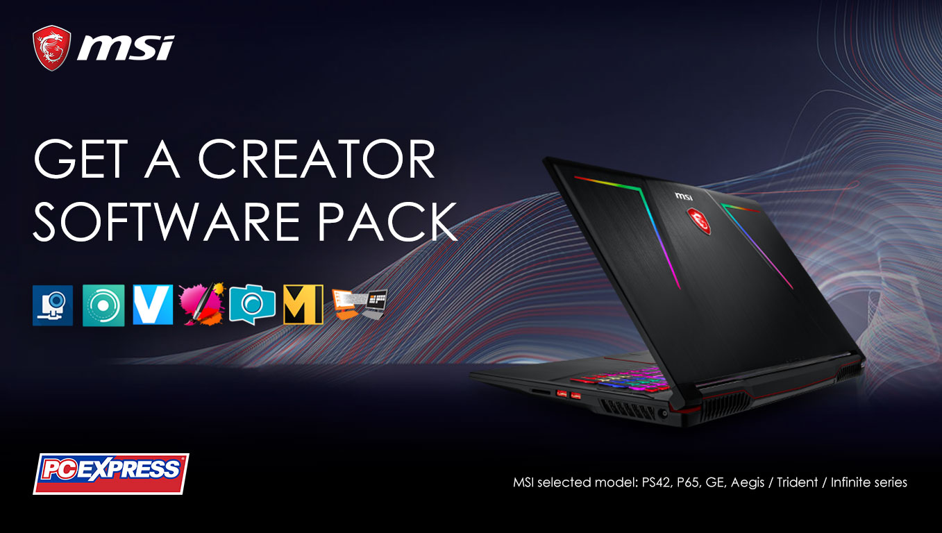 MSI Free Creator Software Pack!