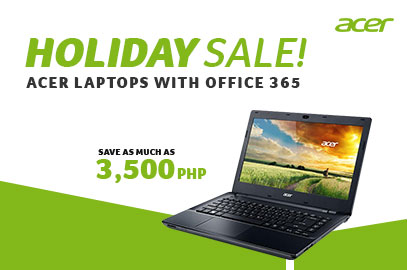 ACER LAPTOPS WITH OFFICE 365 HOLIDAY SALE!