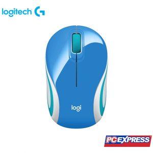LOGITECH M187 Mini Wireless Mouse (Blue)