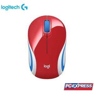 LOGITECH M187 Mini Wireless Mouse (Red)