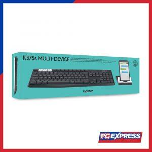 LOGITECH K375S Wireless Multi Device (WITH STAND) Keyboard Black